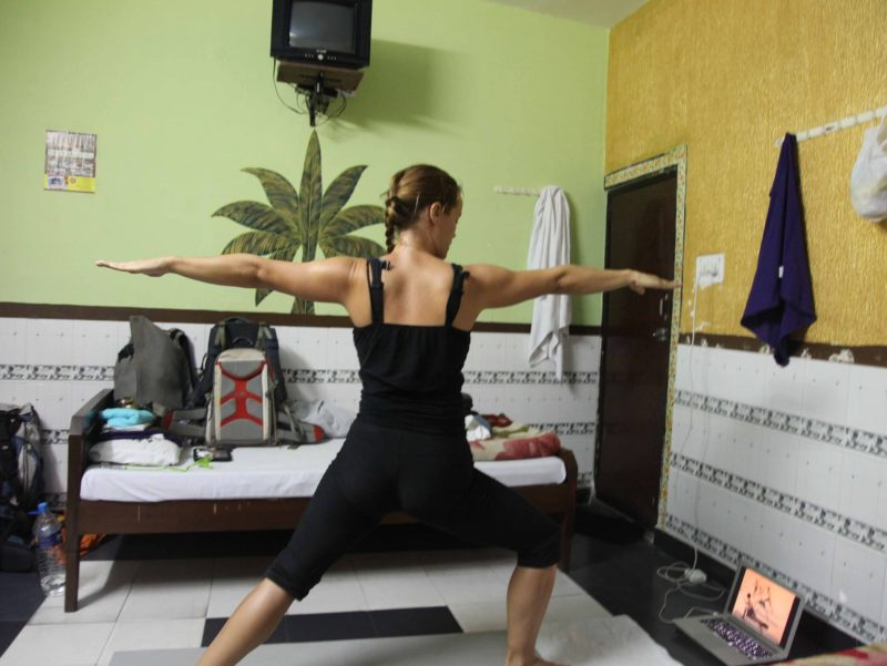 Yoga while travelling in India