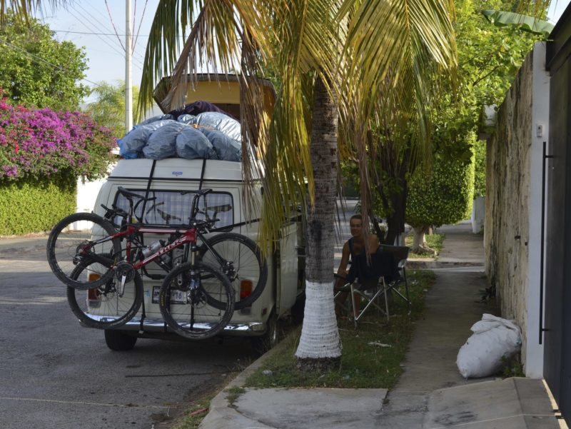 City camping in Merida, Mexico
