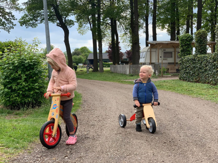 riding bikes in Holland