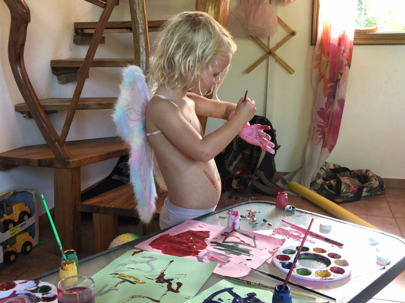 The Wide Open Road   Digital Nomad Kids in Quarantine   Painting yourself